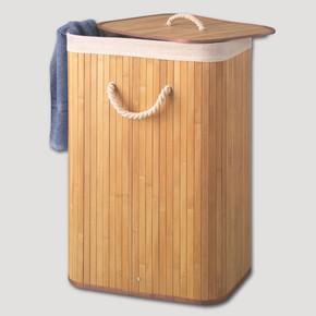 Bambu Katlanır Kirli Çamaşır Sepeti
