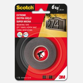 Scotch 4002 Extra Güçlü Montaj Bandı 19 mm x 1,5 m