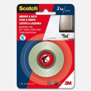 Scotch 4003 Banyo & Ayna Montaj Bandı     19mmx1,5m