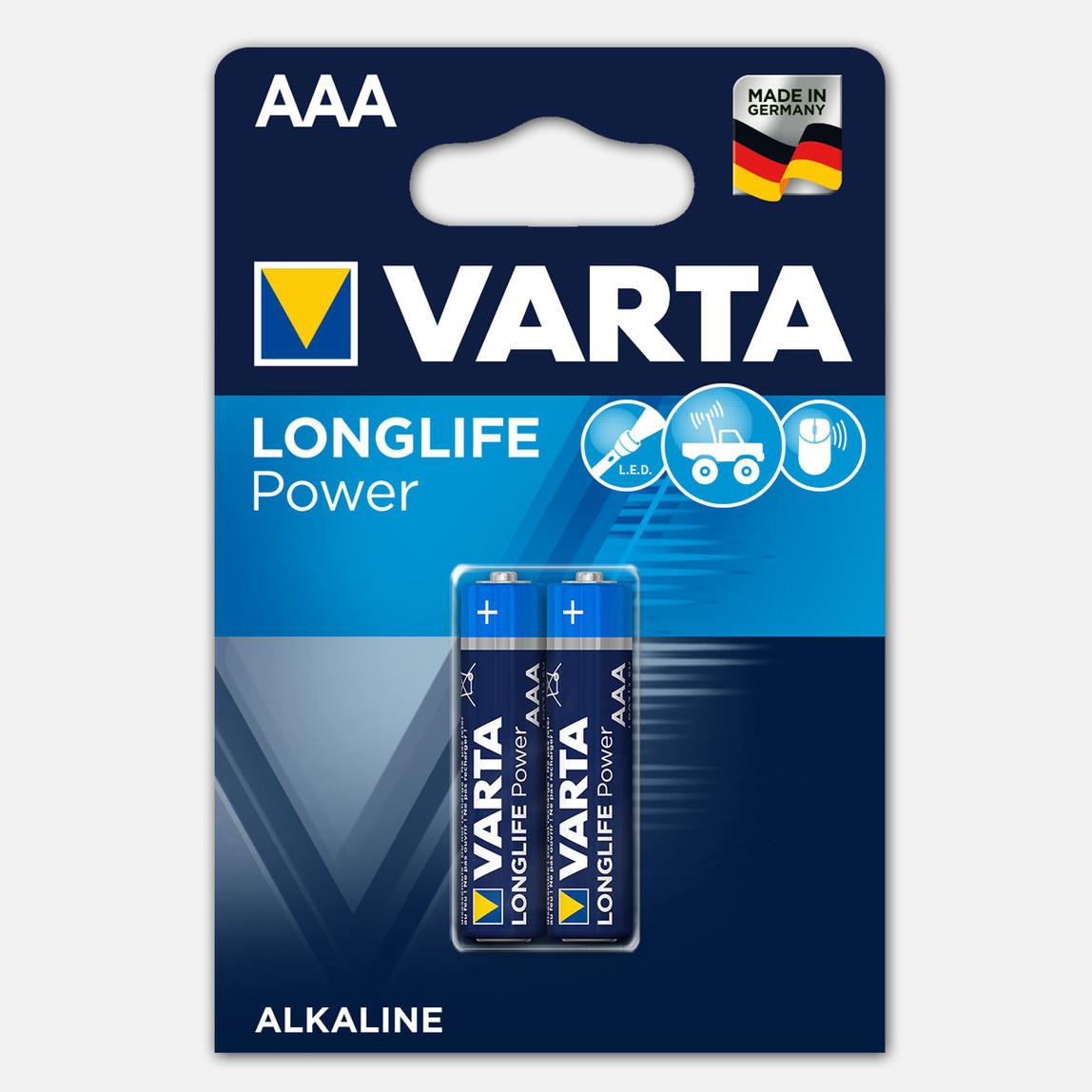 Varta Longlife Power 2 AAA Alkalin Pil