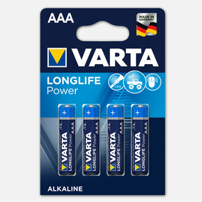 Varta Longlife Power 4 AAA Alkalin Pil