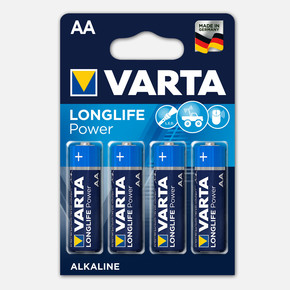 Varta Longlife Power  4 AA Alkalin Pil