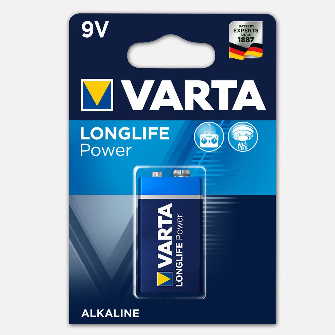 Varta Longlife Power  1 X 9 V Alkalin Pil