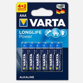 Varta Longlife Power  4+2 AAA Alkalin Pil