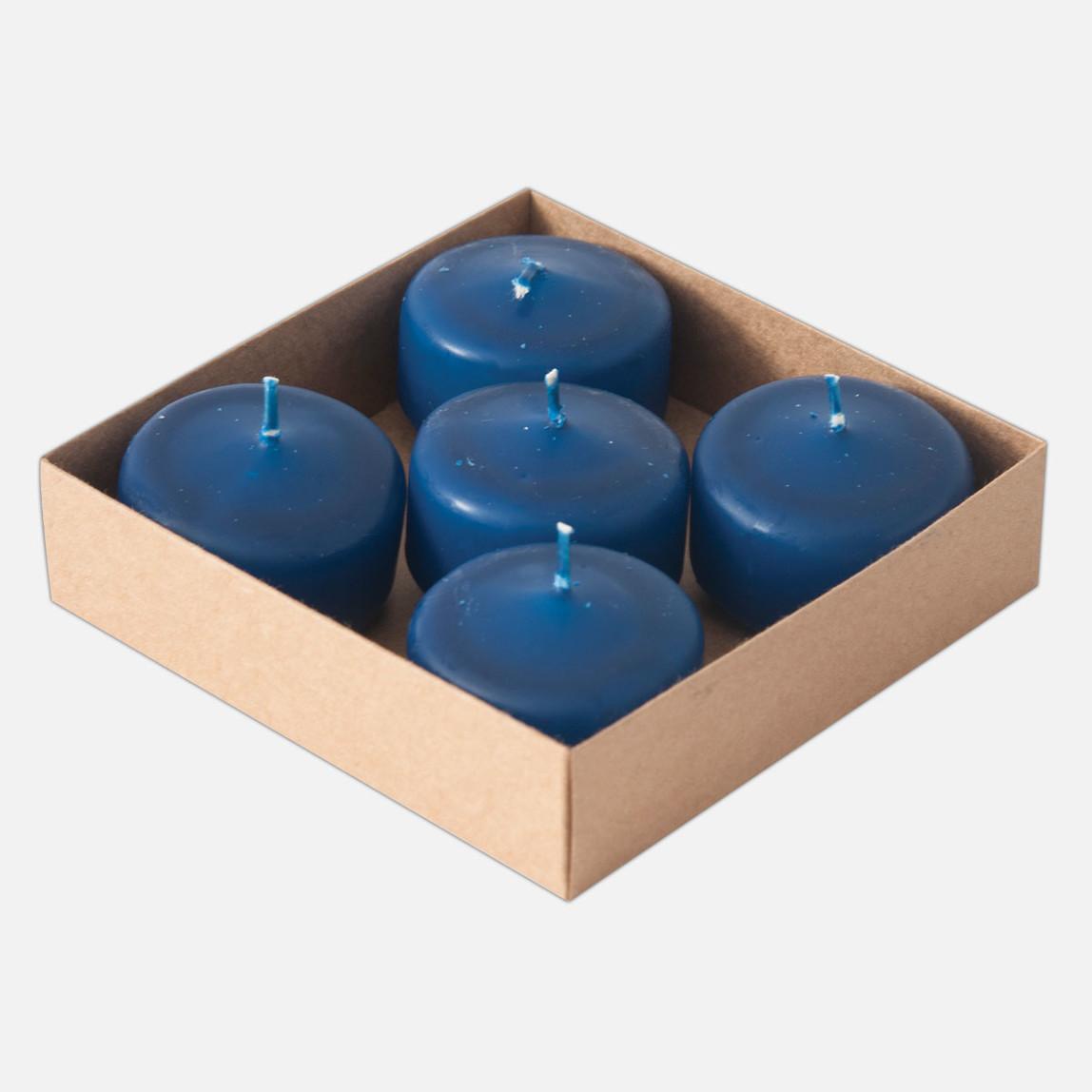 Yüzen Mum 5'li Mavi