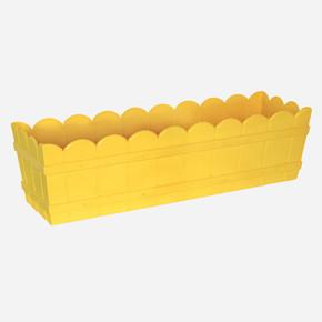 Balkon Saksı Dikdörtgen Sarı
