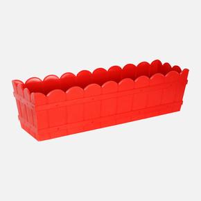 Balkon Saksı Dikdörtgen Kırmızı