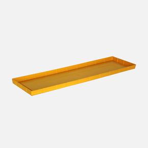 Balkon Saksı Altlığı Dikdörtgen Sarı