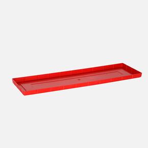 Balkon Saksı Altlığı Dikdörtgen Kırmızı