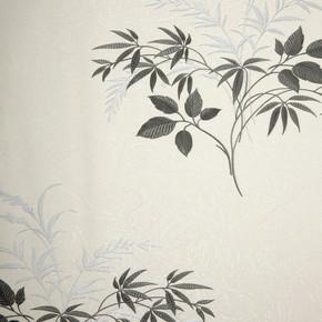 Emboss Yaprak Bej Gumus Duvar Kağıdı