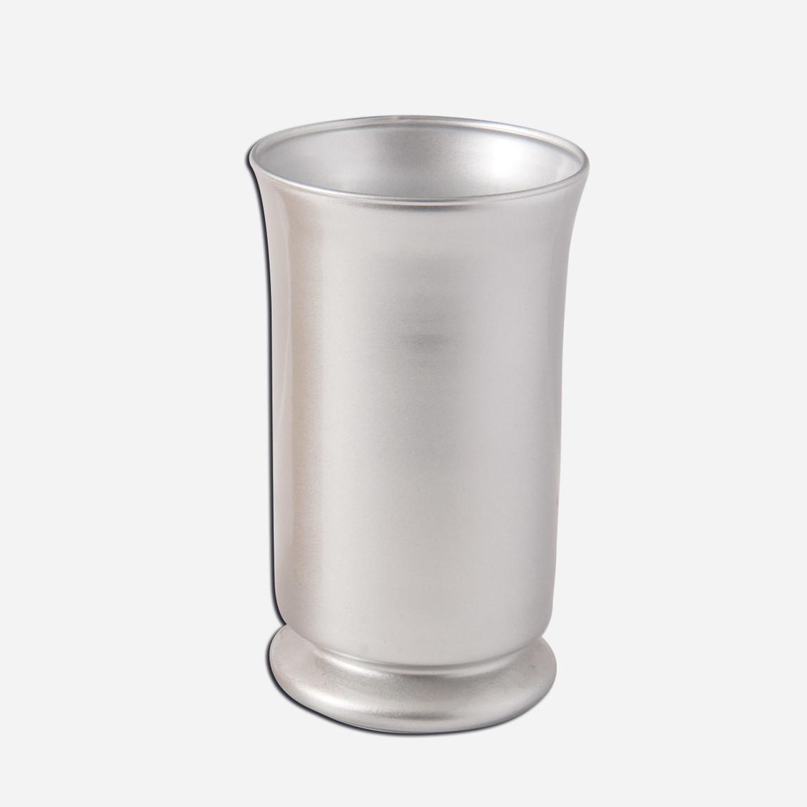 Dekoratif Vazo Gümüş 15x28cm