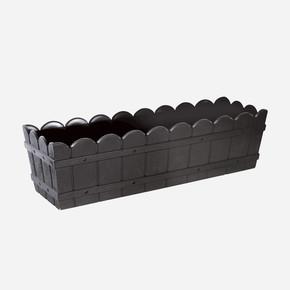 Balkon Saksı Dikdörtgen Siyah
