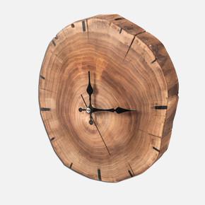 Doğal Ağaç Duvar Saati