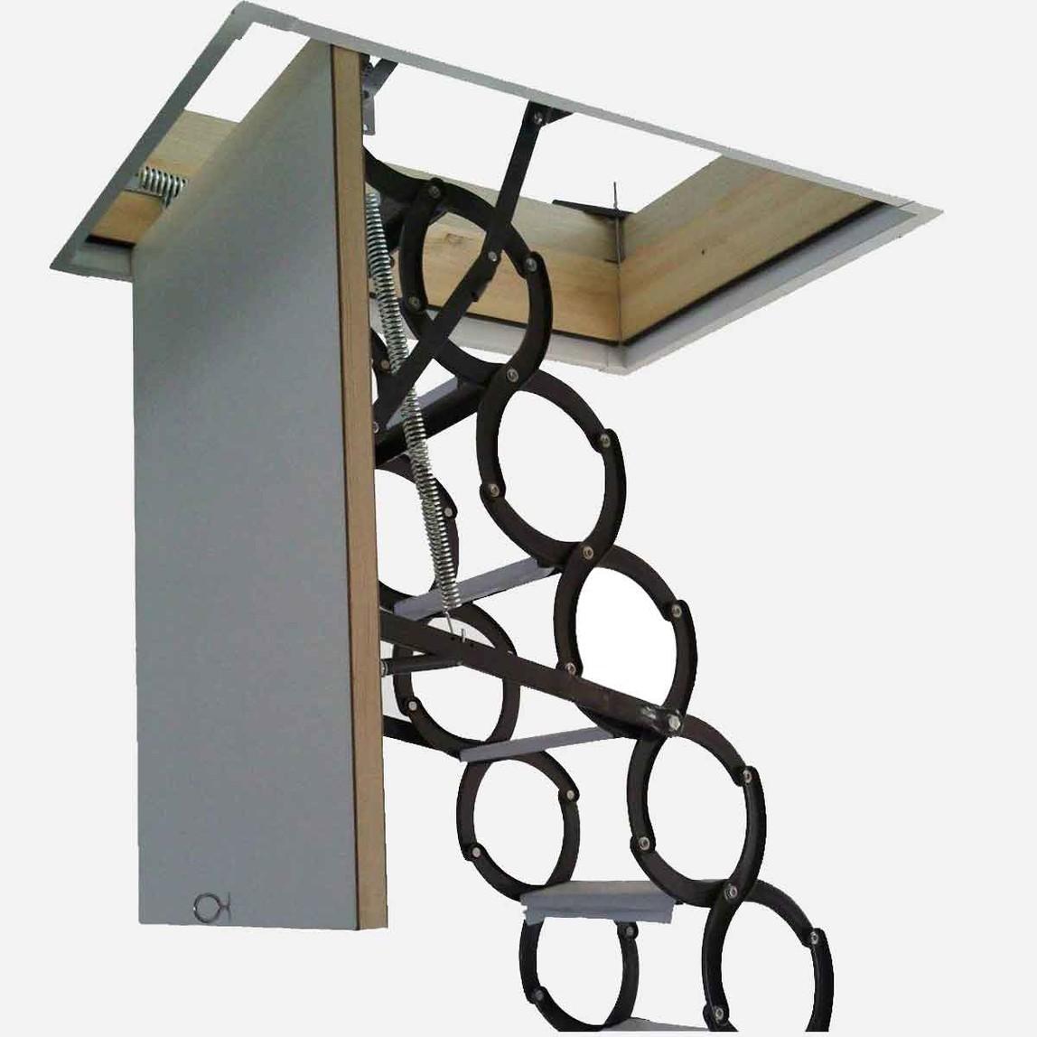 70x90 cm Akordiyon Çatı Merdiveni