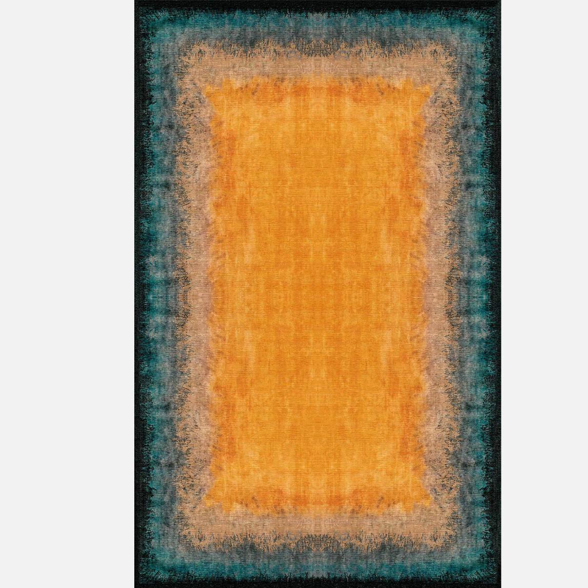 Luna Orange Aqua 120x180 Kilim