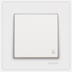 Moda Beyaz Zıl Butonu