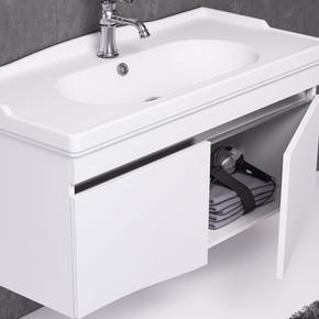 Torino 85 cm Alt Mat Beyaz