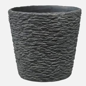 Dayton Saksı Taş Desen 20Cm. Siyah