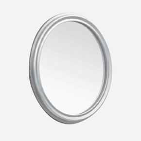 Cunda 60 cm Oval  Gümüş Ayna