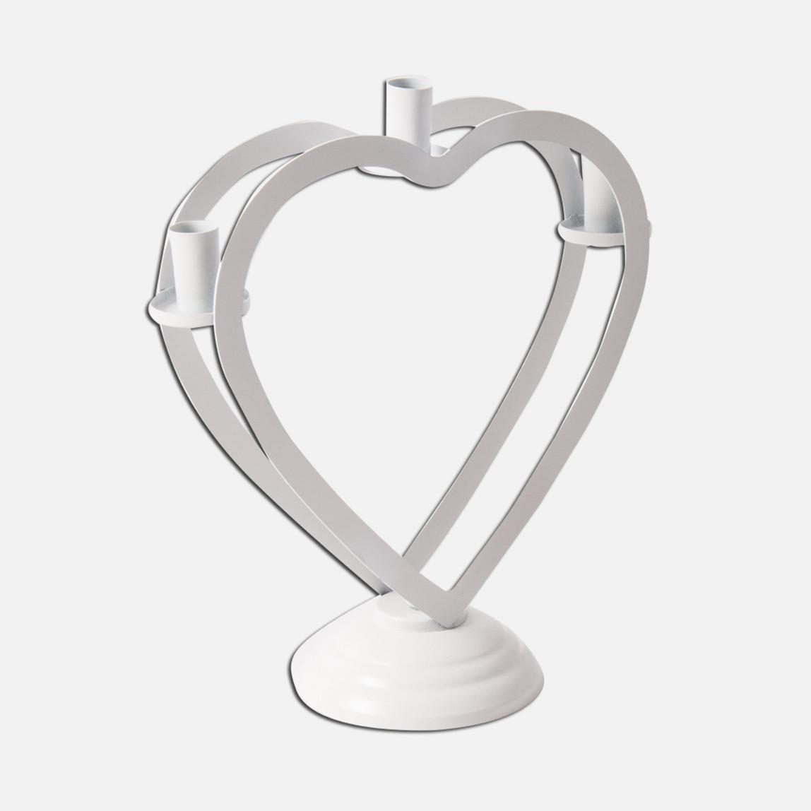 Üçlü Kalp Şamdan