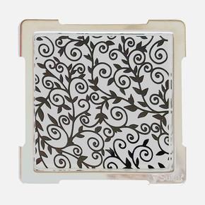 10X10cm Siyah Desenli Cam Izgaralı