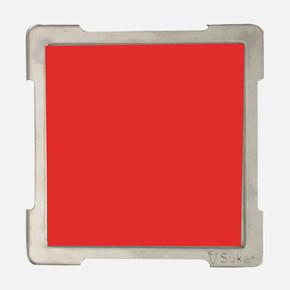 10X10cm Kırmızı Cam Izgaralı