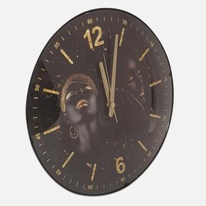 Dekoratif Bombeli Arap Kız Saat