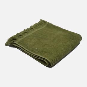 Lisa Kabartma Saçaklı Havlu Yeşil
