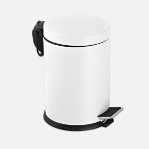 5 lt Pedallı Çöp Kovası Beyaz
