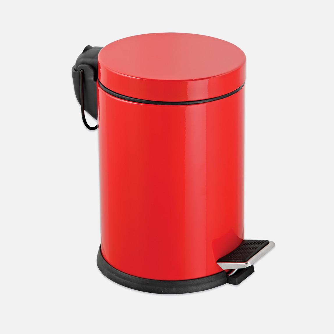 5Lt Pedallı Çöp Kovası, kırmızı