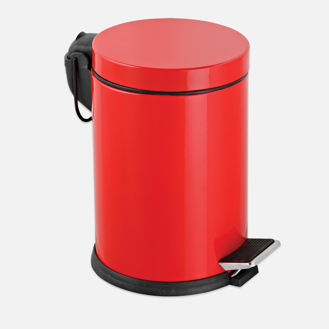 Pedallı Çöp Kovası Kırmızı