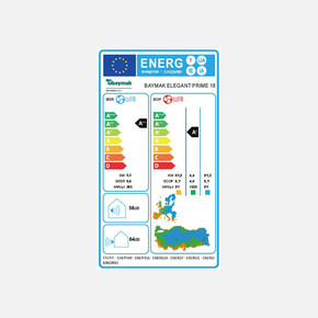 Baymak Elegant Prime 18 A++ (R32) Montaj Dahil Klima