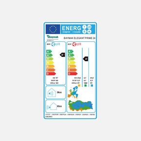 Baymak Elegant Prime 24 A++ (R32) Montaj Dahil Klima