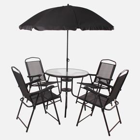 Sunfun Şemsiyeli Masa ve Sandalye Seti