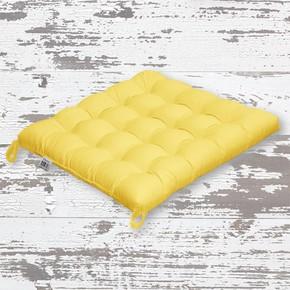 Rattan Sandalye Minderi Sarı 50x50cm