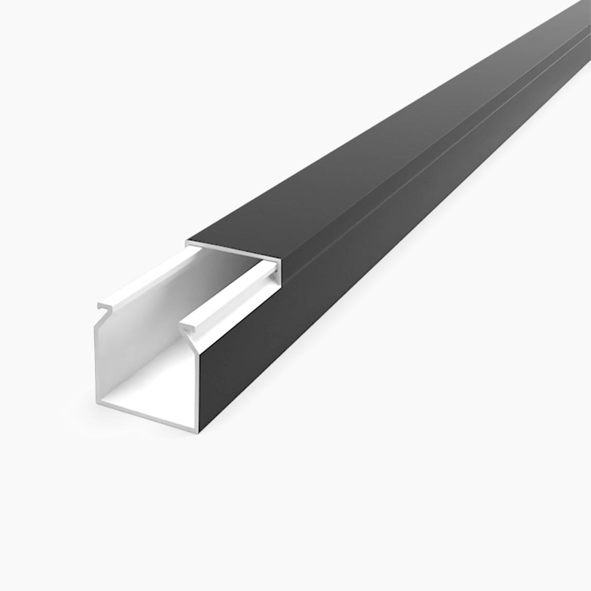 12X12mm Kablo Kanalı(Siyah) Sidem