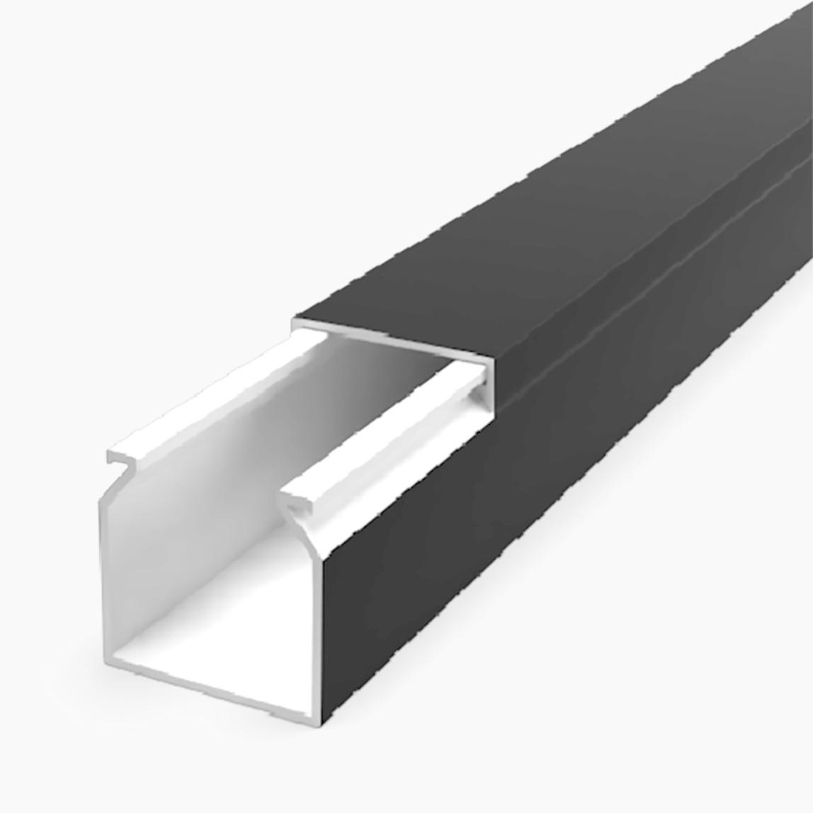 40X40 Kablo Kanalı(Siyah) Sidem