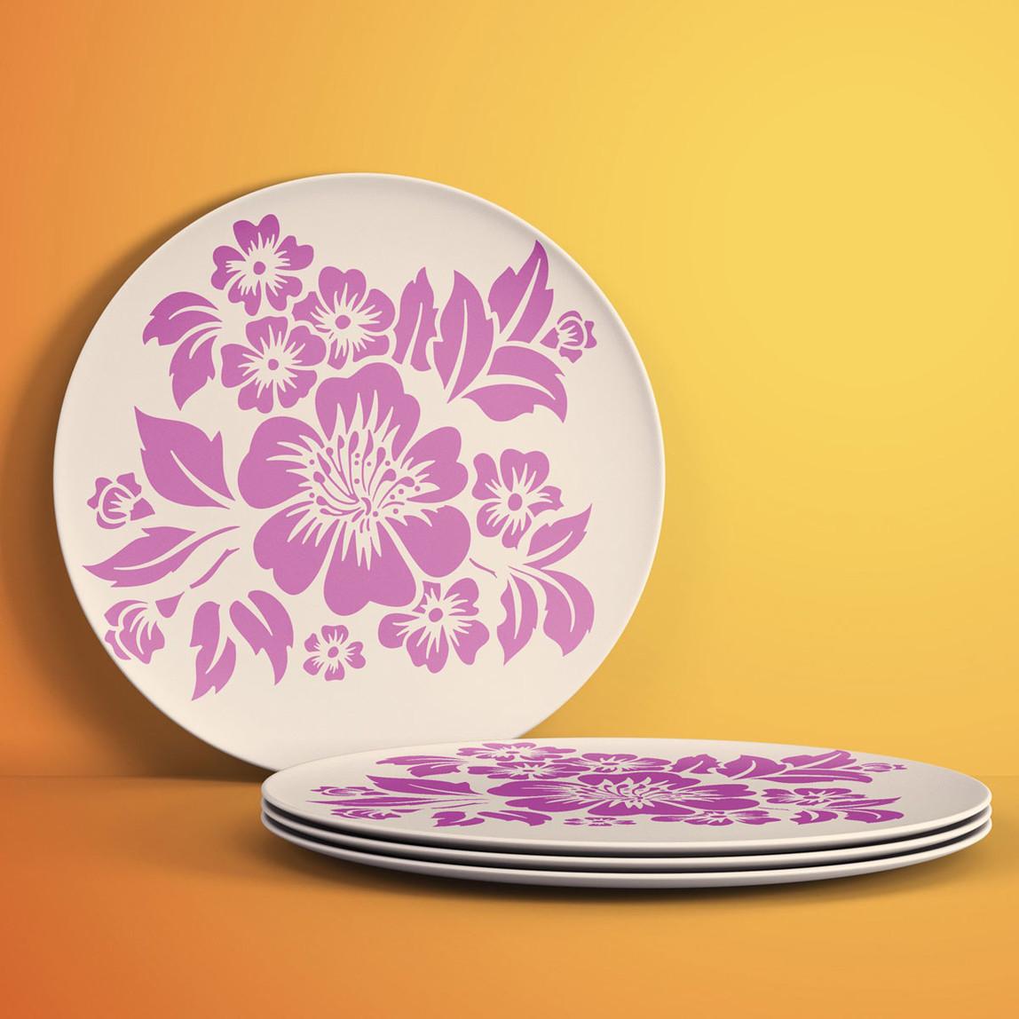 Tropikal Çiçek Stencil 30x30 cm