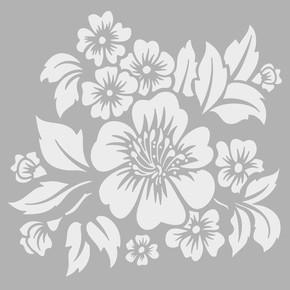 Tropikal Çiçek Stencıl 30x30 cm