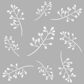Çiçekler 3 Stencil 30x30 cm