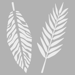 Tropikal Yaprak 2 Stencıl 30x30 cm