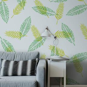 Tropikal Yaprak 2 Stencil 30x30 cm