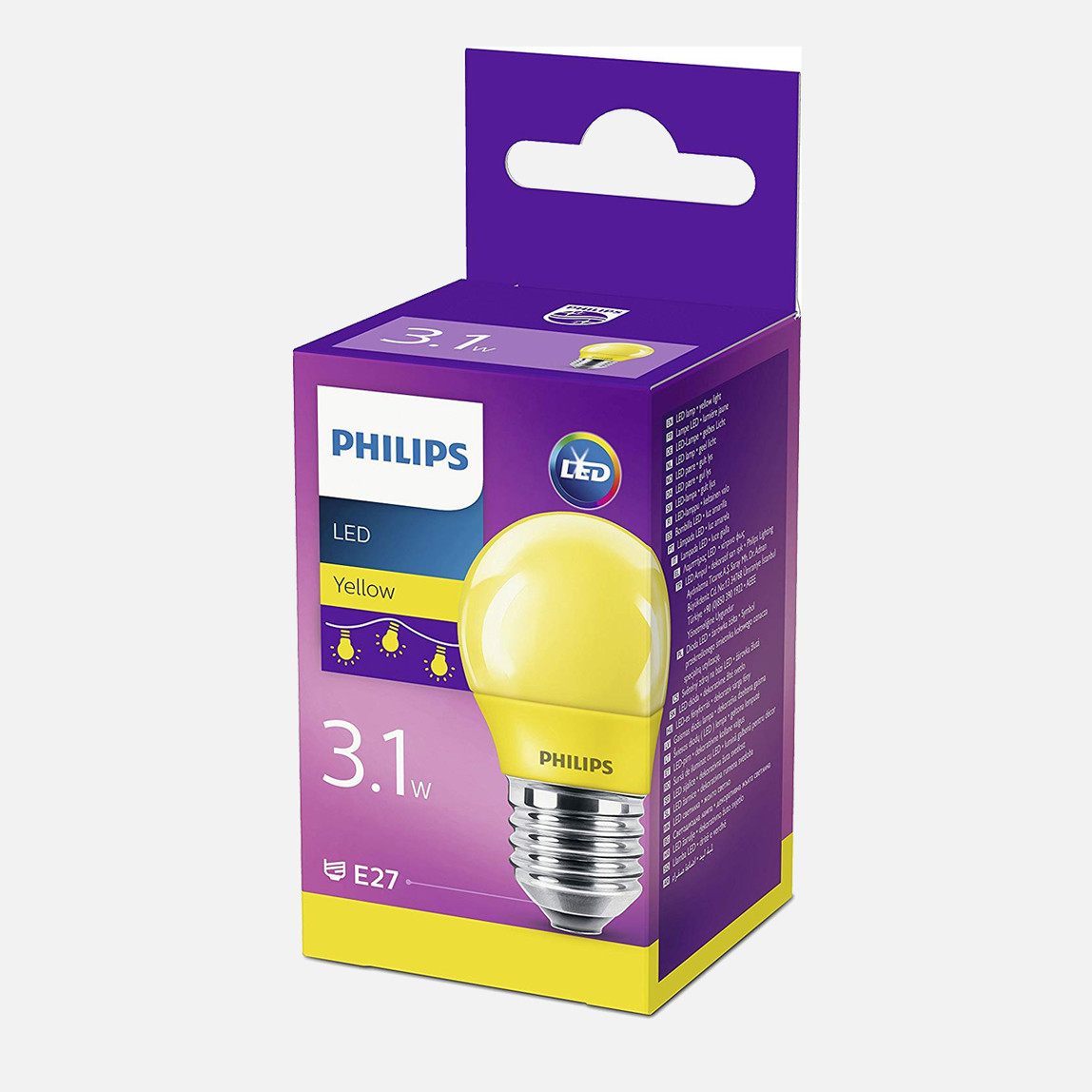 Led Colored P45 E27 Sarı 1PF