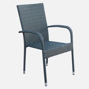 Sunfun Rattan Sandalye Siyah