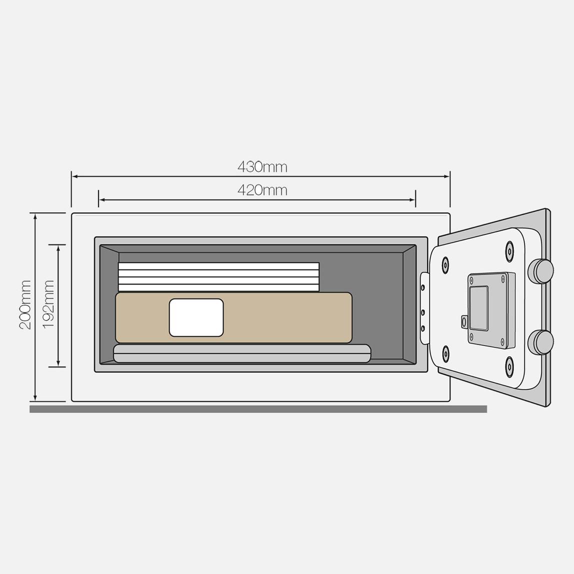Yale Alarmlı Kollu Kasa - Laptop Tipi