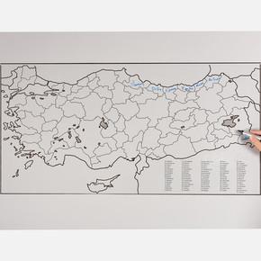 Pratik Tahta Türkiye Haritası
