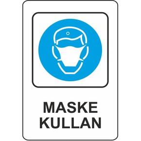 Uyarı Levhası Pvc Maske Kullan