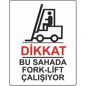 25x35 cm Pvc Dikkat Forklift