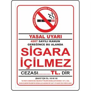 25x35 cm Pvc Sigara İçilmez