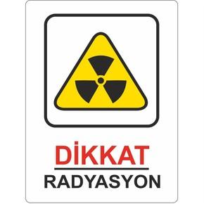 25x35 cm Pvc Dikkat Radyasyon